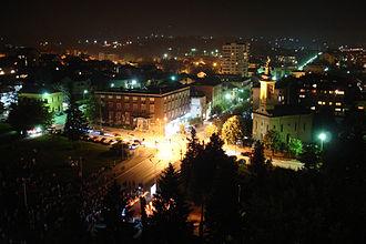 Gornji Milanovac - Gornji Milanovac at night