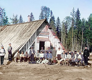 Austro-Hungarian Army - Austro-Hungarian POWs in Russia; a 1915 photo by Prokudin-Gorskii