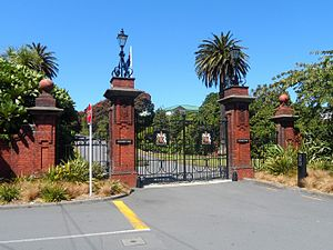 Government House, Wellington - Gates of Government House, Wellington
