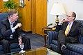 Governor John Hickenlooper Jr. meets with Thomas Perez, January 2015 (1).jpg