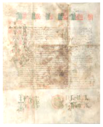 Gramata - decree of blesing - by the Russian Emperor Peter the Great sent to Montenegrins 1711