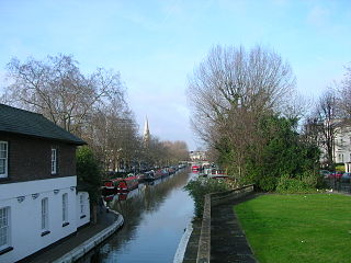 Maida Vale residential district comprising the northern part of Paddington in west London