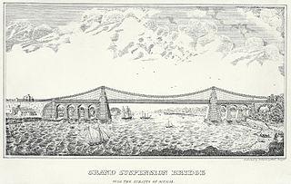 Grand suspension bridge: over the straits of Menai