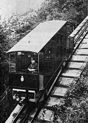Schlossbergbahn (Graz) - An original car in 1900