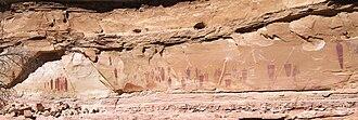 Horseshoe Canyon (Utah) - The Great Gallery, Canyonlands National Park