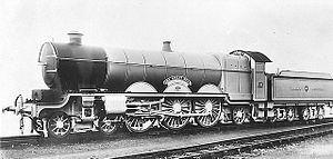 GWR 111 The Great Bear - Official picture of the GWR 4-6-2 No.111 The Great Bear in 1908.