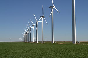 Wind power in the United States - Brazos Wind Ranch in Texas.