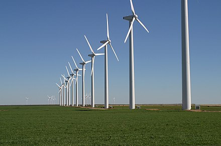 Brazos Wind Farm in the plains of West Texas - Texas