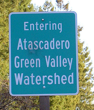 Green Valley Creek - Image: Green Valley Sign Edit 2717