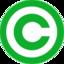 Logo copyright vert