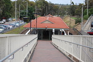 Greensborough railway station - Image: Greensborough Station Entrance
