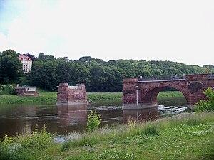 Grimma - Destroyed Pöppelmannbrücke