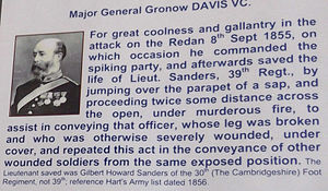Gronow Davis VC citation at Royal Artillery Museum.jpg