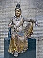 Guanyin Jin or Yuan Dynasty 1115-1234 CE or 1271-1368 CE China wood overlaid with Gesso and Gilt Penn Museum.jpg