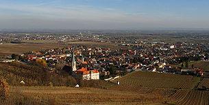 View over Gumpoldskirchen