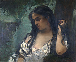 Gustave Courbet: Gypsy in Reflection