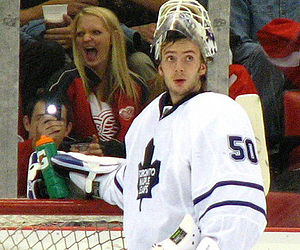 Jonas Gustavsson - Gustavsson with the Leafs in May 2011.