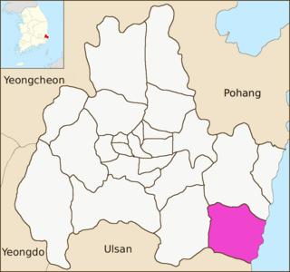 Yangnam-myeon Place in Gyeongju, South Korea
