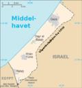 Kart over Gazastripa