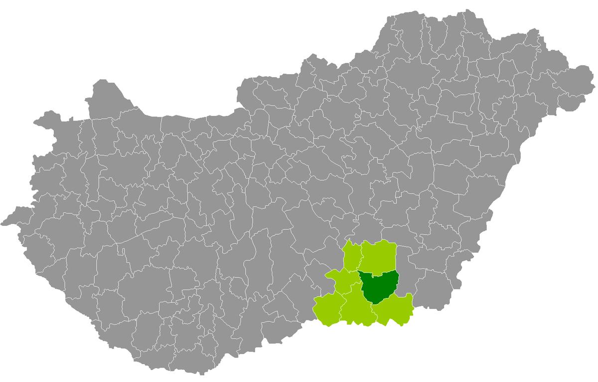 vásárhely térkép Hódmezővásárhely District   Wikipedia
