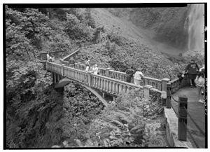 Multnomah Falls - The Benson Footbridge