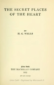 HG Wells--secret places of the heart.djvu