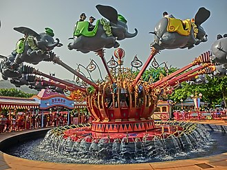 Dumbo the Flying Elephant - Image: HK Disneyland 小飛象 Dumbo the Flying Elephant Oct 2013 Kiddie Plane Ride