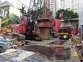 HK Shek Tong Tsui 西環大樓 Western Court construction site vehicles April 2016 DSC.JPG