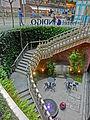 HK Wan Chai 灣仔 246 Queen's Road East Indigo Hotel basement cafe outside stairs Nov-2013.JPG