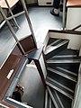 HK tram 75 view upper deck interior stairs October 2020 SS2 01.jpg
