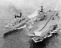 HMS Broadsword and Hermes, 1982 (IWM).jpg