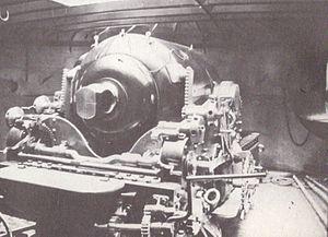 HMS Hotspur (1870) - Image: HMS Hotspur (1870) 12 inch gun rear view