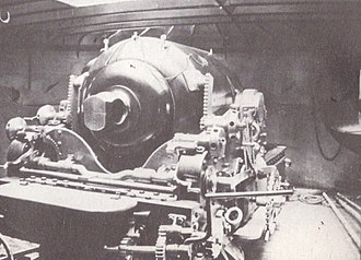 RML 12-inch 25-ton gun - Image: HMS Hotspur (1870) 12 inch gun rear view