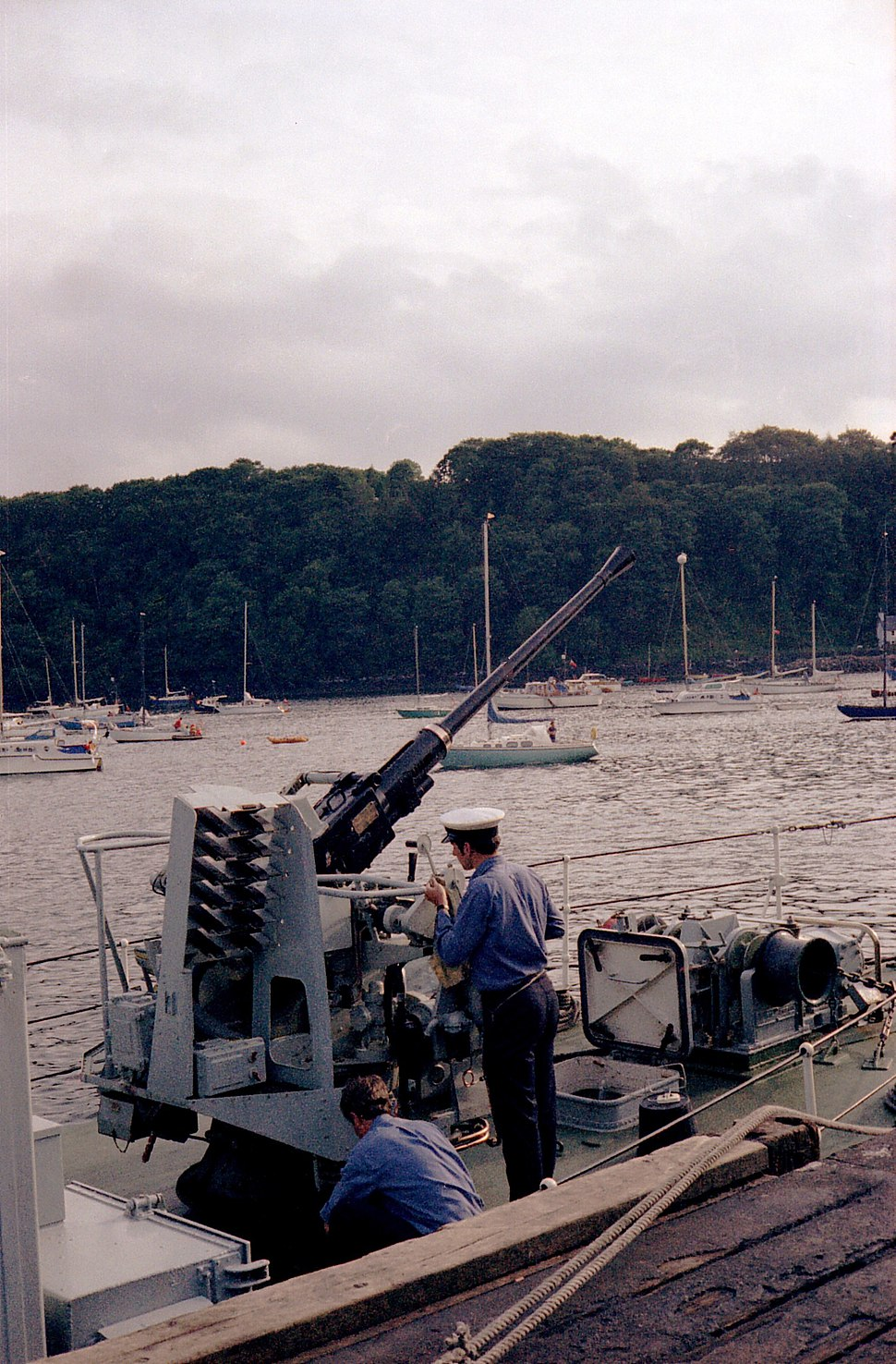 HMS Isis Bofors gun, Tobermory, 1978