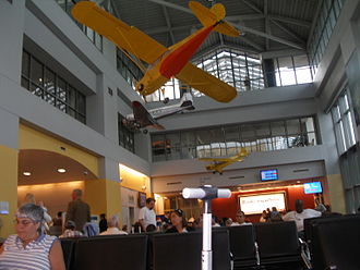 Westchester County Airport - The gate area in the main terminal