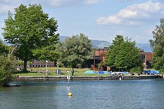 Hochschule für Technik Rapperswil - HSR on Obersee lakeshore