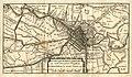 HUA-212032-Kaart van het grondgebied van de stadsvrijheid van Utrecht met directe omgeving met het stratenplan in de stad wegen en watergangen en weergave van de.jpg