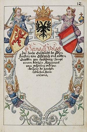 Habsburger Wappenbuch Fisch saa-V4-1985 012r