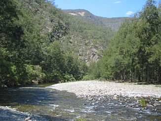 Halls Peak Mine und Chandler River im Oxley-Wild-Rivers-Nationalpark