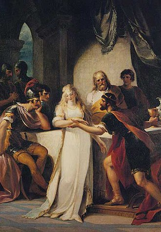 Hengist and Horsa - Vortigern and Rowena, by William Hamilton (1793)