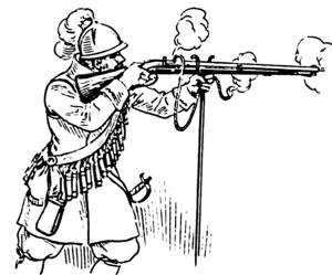 arquebus wikipedia First Matchlock Gun arquebus