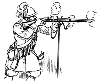 Type of long gun that appeared in Europe during the 15th century