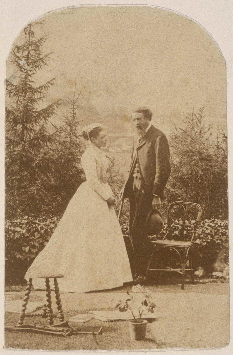Harriet and Leslie Stephen 1867