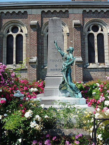 Haulchin (Nord, Fr) monument aux morts