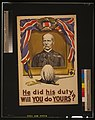 He did his duty. Will you do yours? LCCN2003662915.jpg