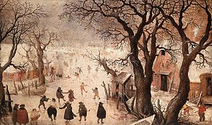 Hendrick Avercamp - Winter Scene on a Canal