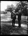 Herbert Hoover and unidentified outside White House, Washington, D.C. LCCN2016889699.jpg