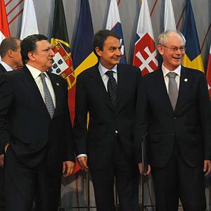 Herman Van Rompuy - Jos%C3%A9 Luis Rodr%C3%ADguez Zapatero - Jos%C3%A9 Manuel Durao Barroso %282010-05-18%29