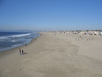 English: Hermosa Beach in the winter on Januar...