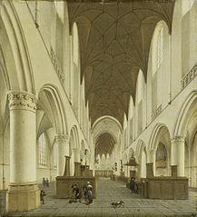 The interior of Saint Bavo's Church in Haarlem